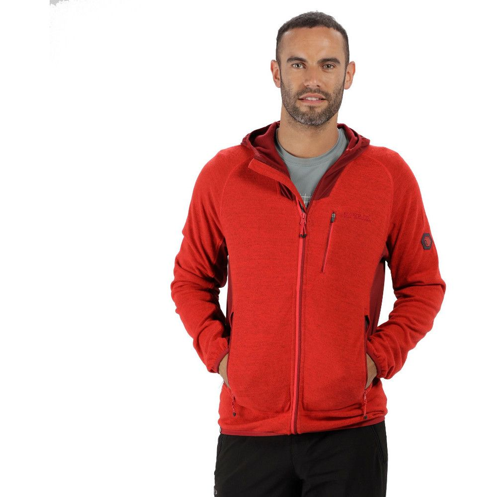 Regatta Mens Cartersville IV Zip Up Hooded Casual Fleece Hoodie Jacket