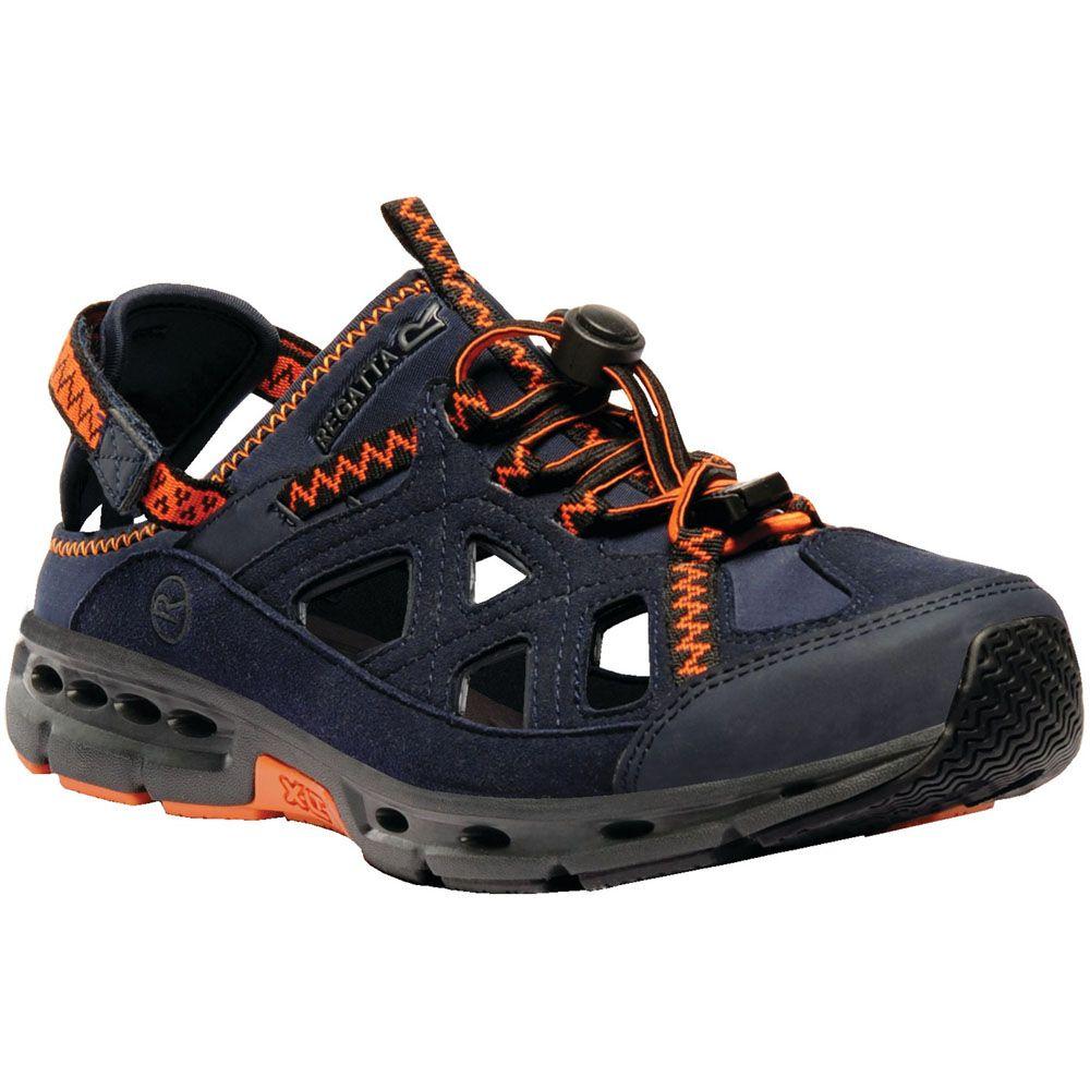 Regatta Mens Ripcord Faux Leather Stretch Quick Lace Walking Sandals