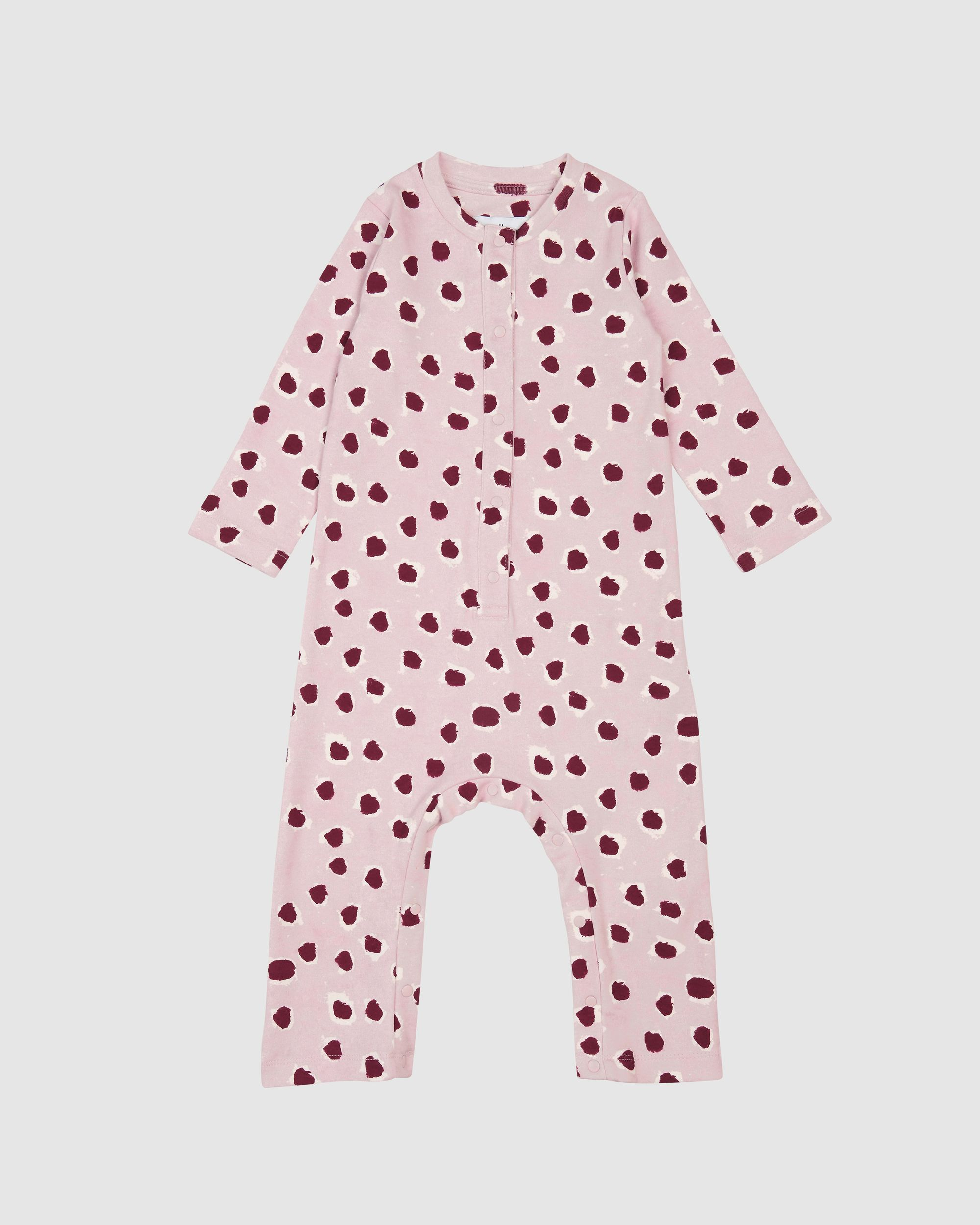 Pink Painted dot Romper