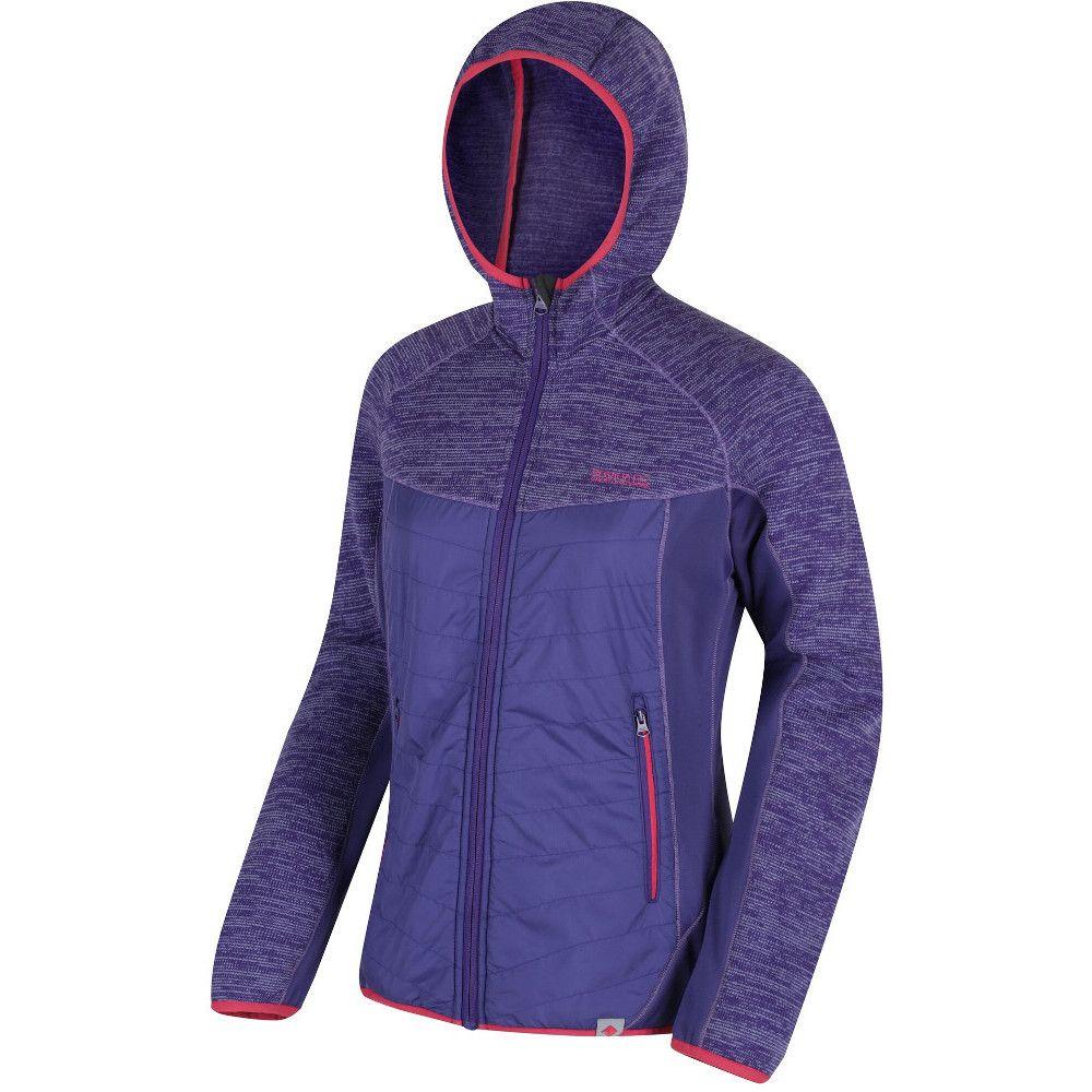 Regatta Womens/Ladies Rocknell Hooded Hybrid Marl Fleece Casual Jacket