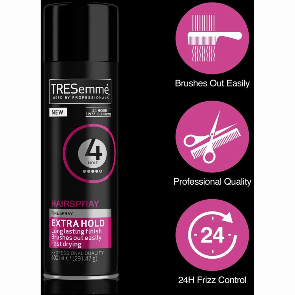 TRESemme 24 Hour Frizz Control Hair Spray, Extra Hold, Pack of 3, 400ml