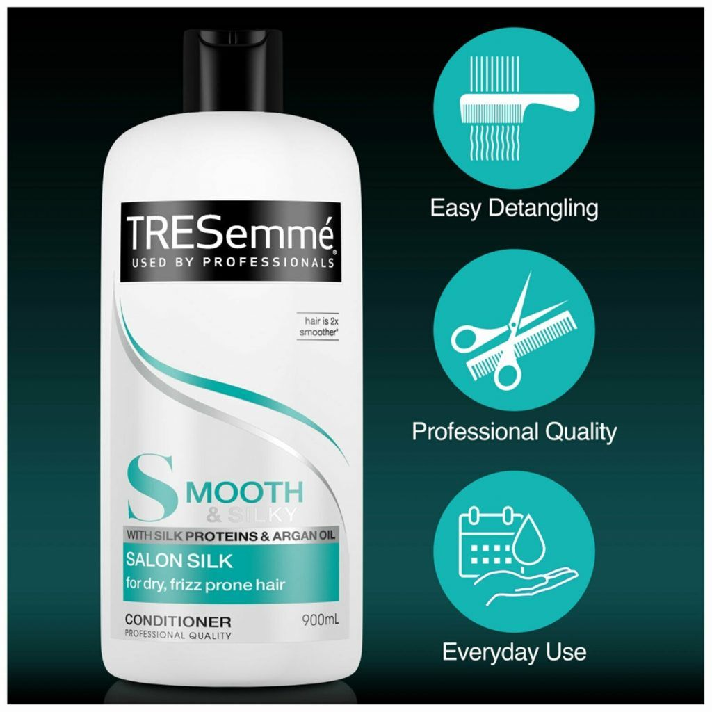 TRESemme Silky Smooth Salon Silk Pack of 2 & Conditioner Pack of 2, 900ml
