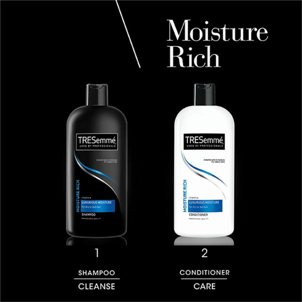TRESemme Luxurious Moisture Rich Pack of 2 Shampoo & Conditioner Pack of 2, 500ml