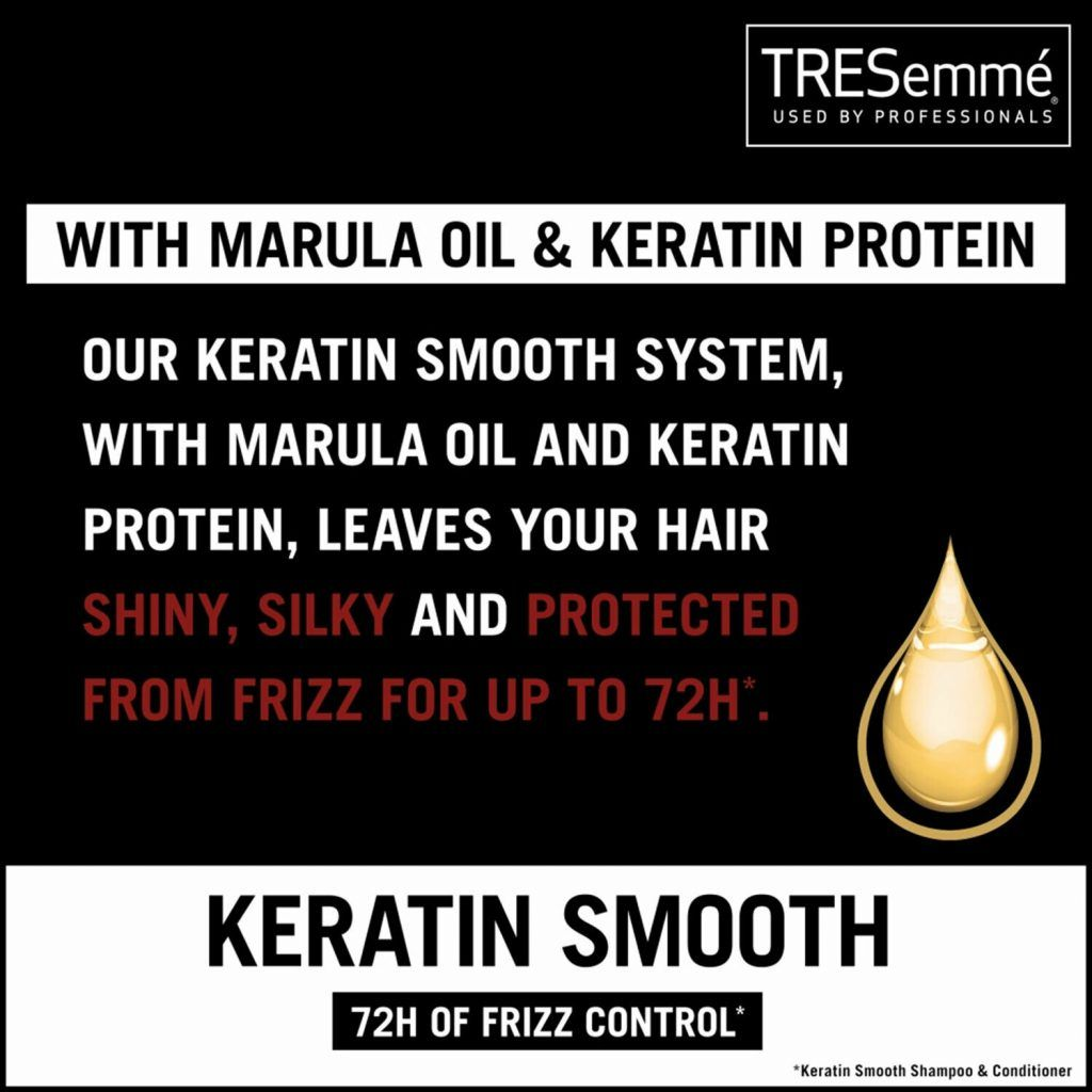 TRESemme Keratin Smooth Pack of 2 Shampoo & Pack of 2 Conditioner, 700ml