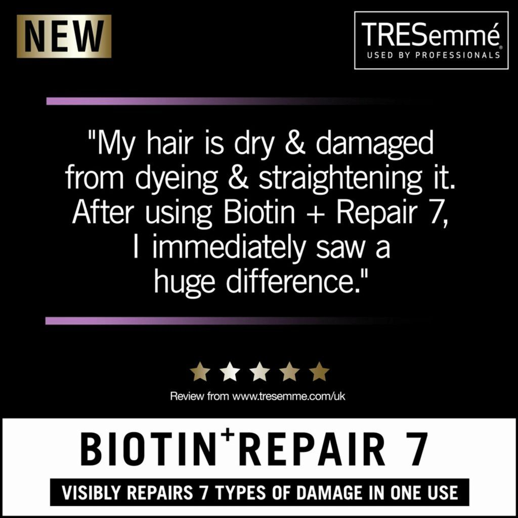 TRESemme Biotin Repair+7 Shampoo Pack of 2 & Conditioner Pack of 2, 700ml