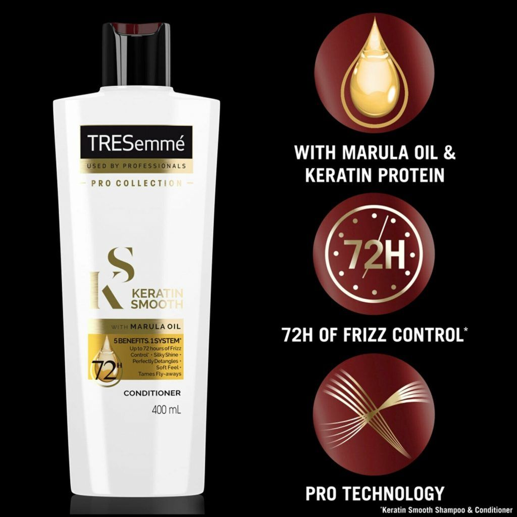 TRESemme Keratin Smooth Shampoo and Conditioner, 400ml & Mask 300ml