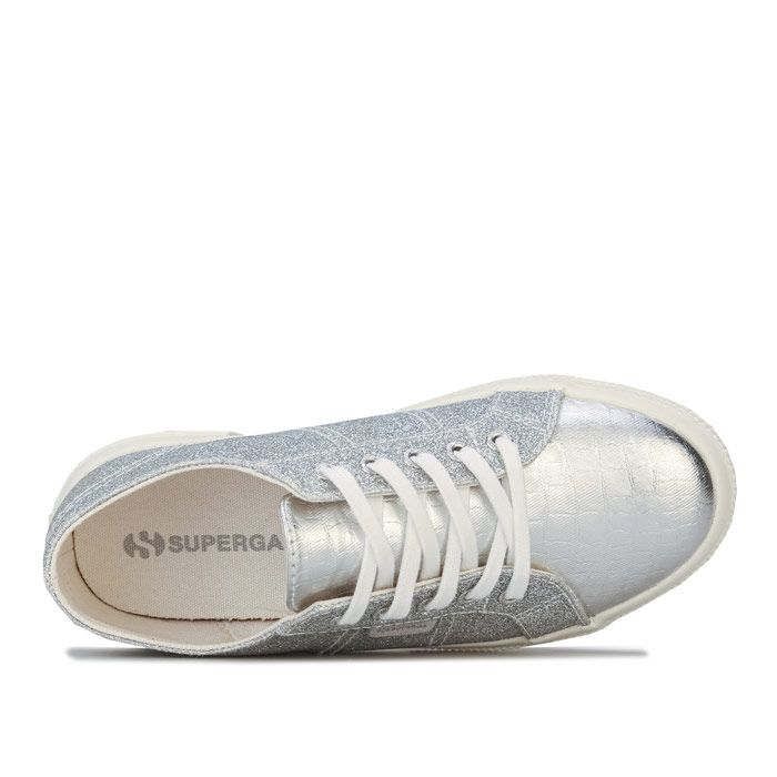 Girl's Superga Children 2750 Cotu Classic Pumps in Silver