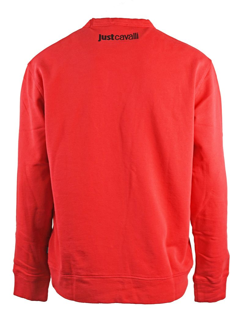Just Cavalli Reverse Logo Red Sweatshirt