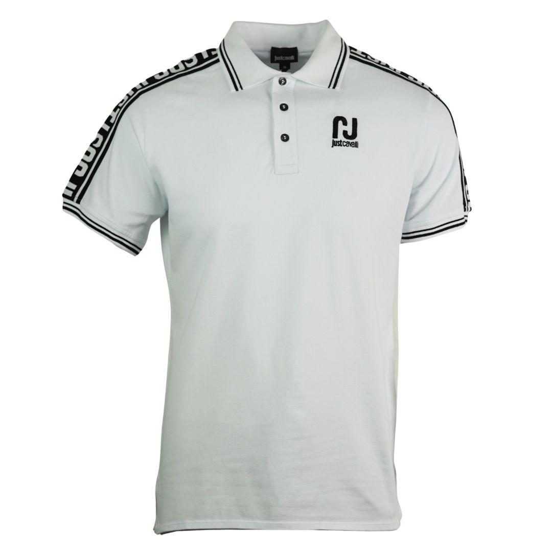 Just Cavalli Sports Logo White Polo Shirt