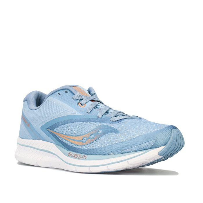 Women's Saucony Kinvara 9 Running Shoes in Light Blue