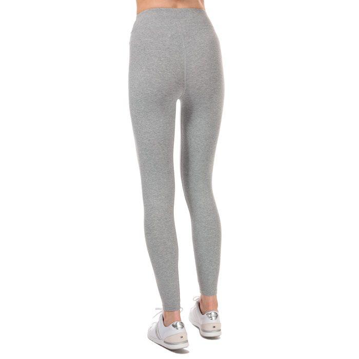 Women's Tommy Hilfiger Stretch Cotton Leggings in Grey Heather