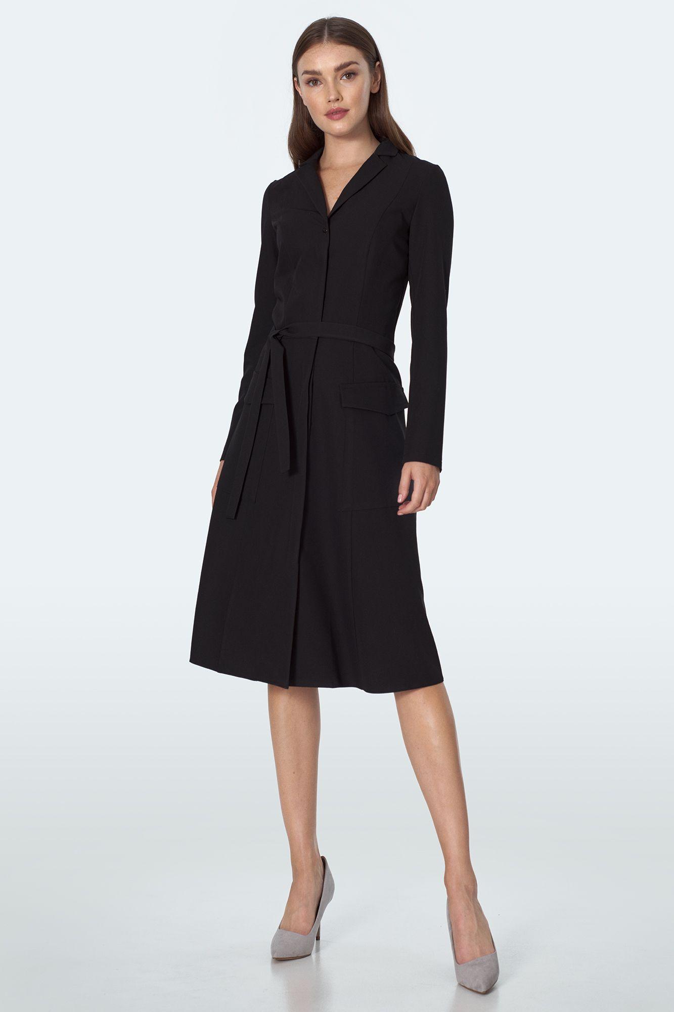 Black long-sleeved dress