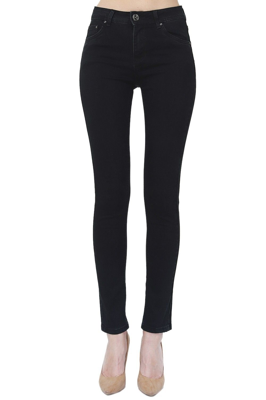 Assuili High Rise Straight Cut Jeans in Black
