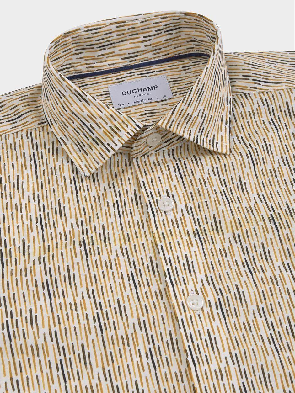 Dash Print Shirt Yellow