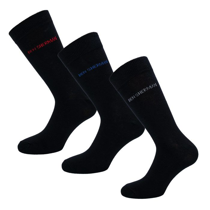 Men's Ben Sherman 3 Pack Hedgehunter Socks in Black