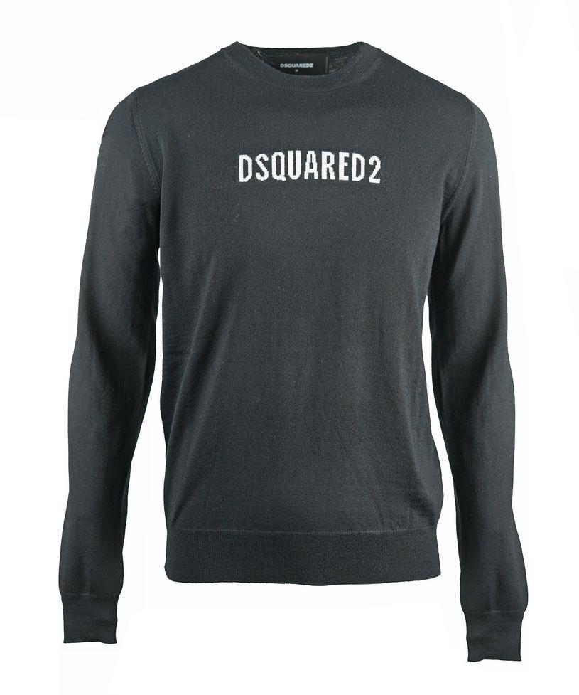 Dsquared2 Box Logo Knit Black Jumper