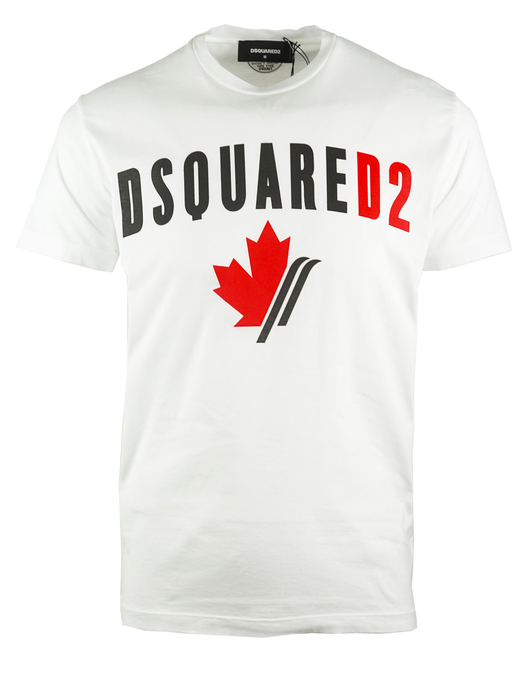 Dsquared2 Cool Fit Maple Leaf Logo White T-Shirt