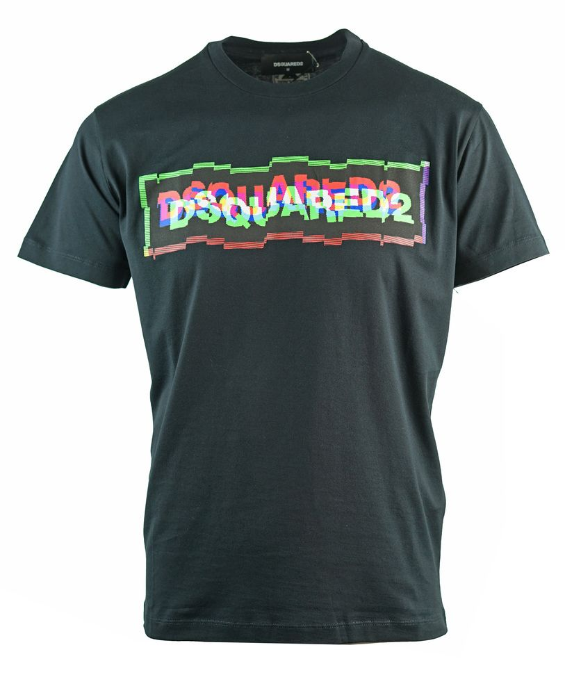 Dsquared2 Distorted Box Logo Cool Fit Black T-Shirt
