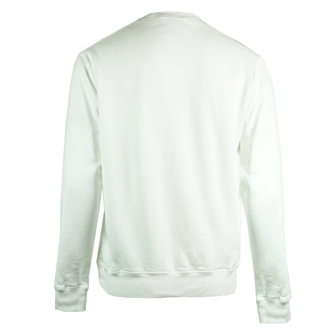 Dsquared2 Sliced Logo Cool Fit White Sweatshirt