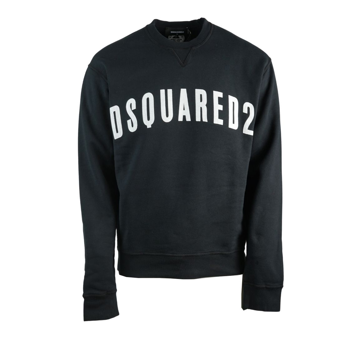 Dsquared2 Large Logo New Dan Fit Black Sweatshirt