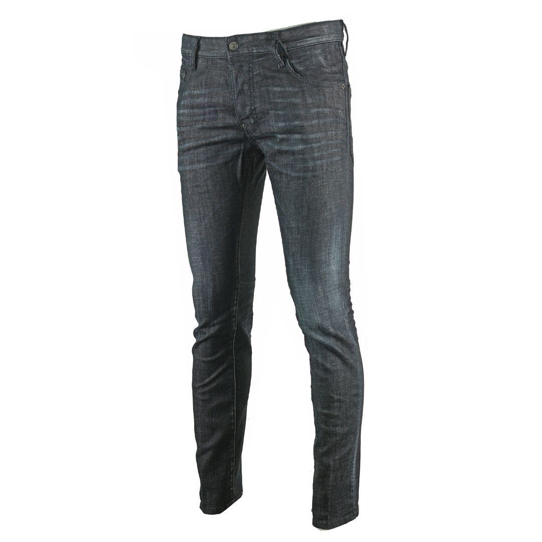Dsquared2 City Biker Jean Distressed Black Jeans
