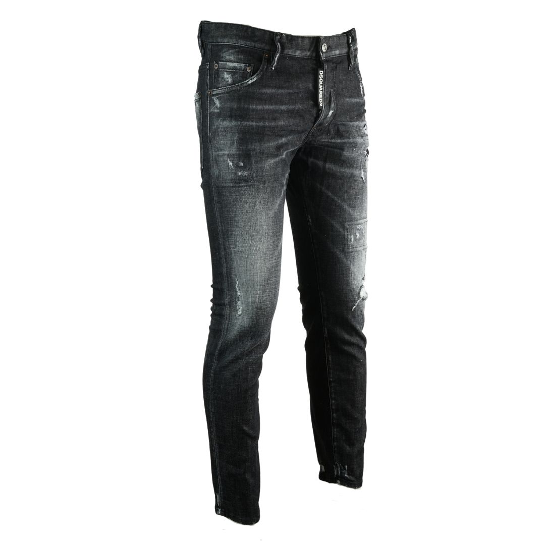 Dsquared2 Skater Jean Distressed Black Jeans