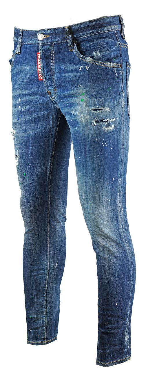 Dsquared2 Skater Jean Spray Paint Effect Jeans