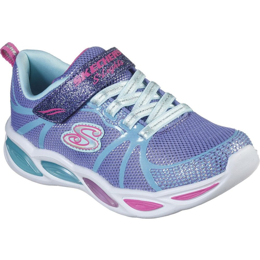 Skechers Girls S Lights Shimmer Beams Sporty Glow Shoes