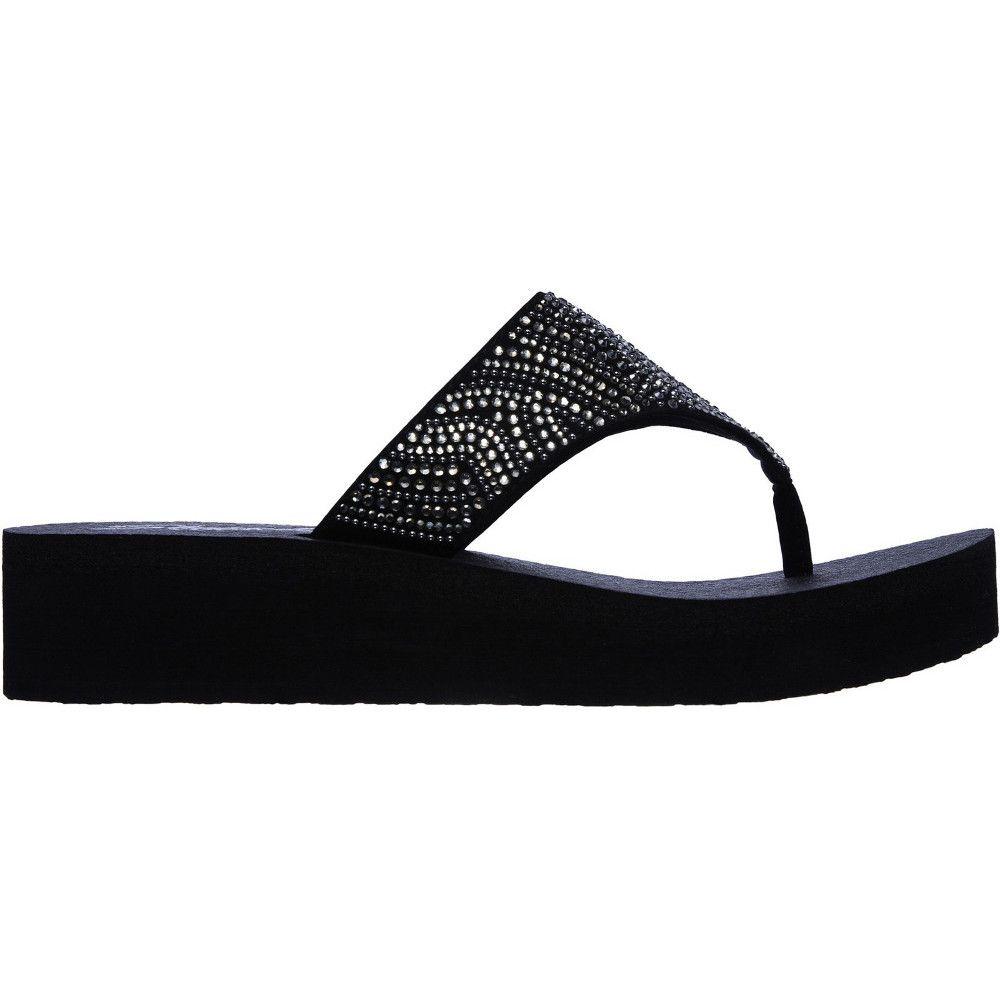 Skechers Womens Vinyasa Stone Candy Platform Flip Flops
