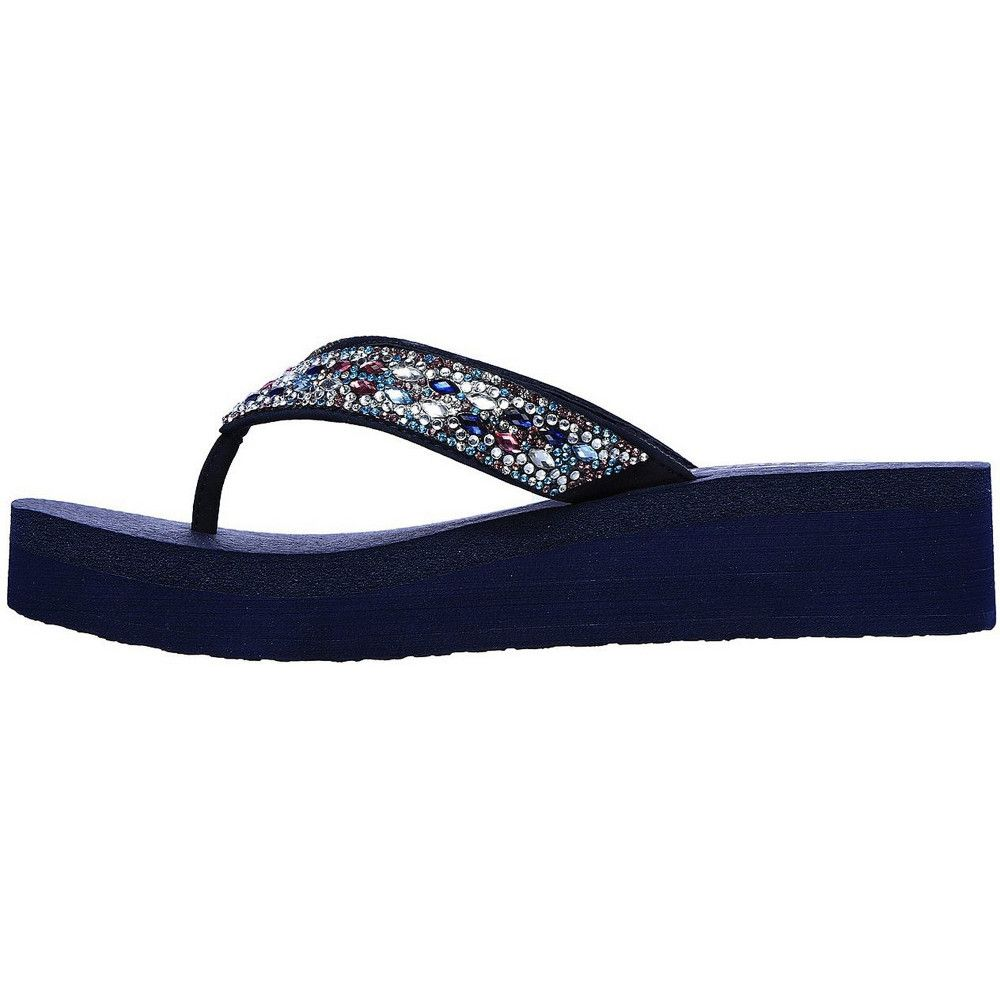 Skechers Womens Vinyasa Glory Day Platform Flip Flops