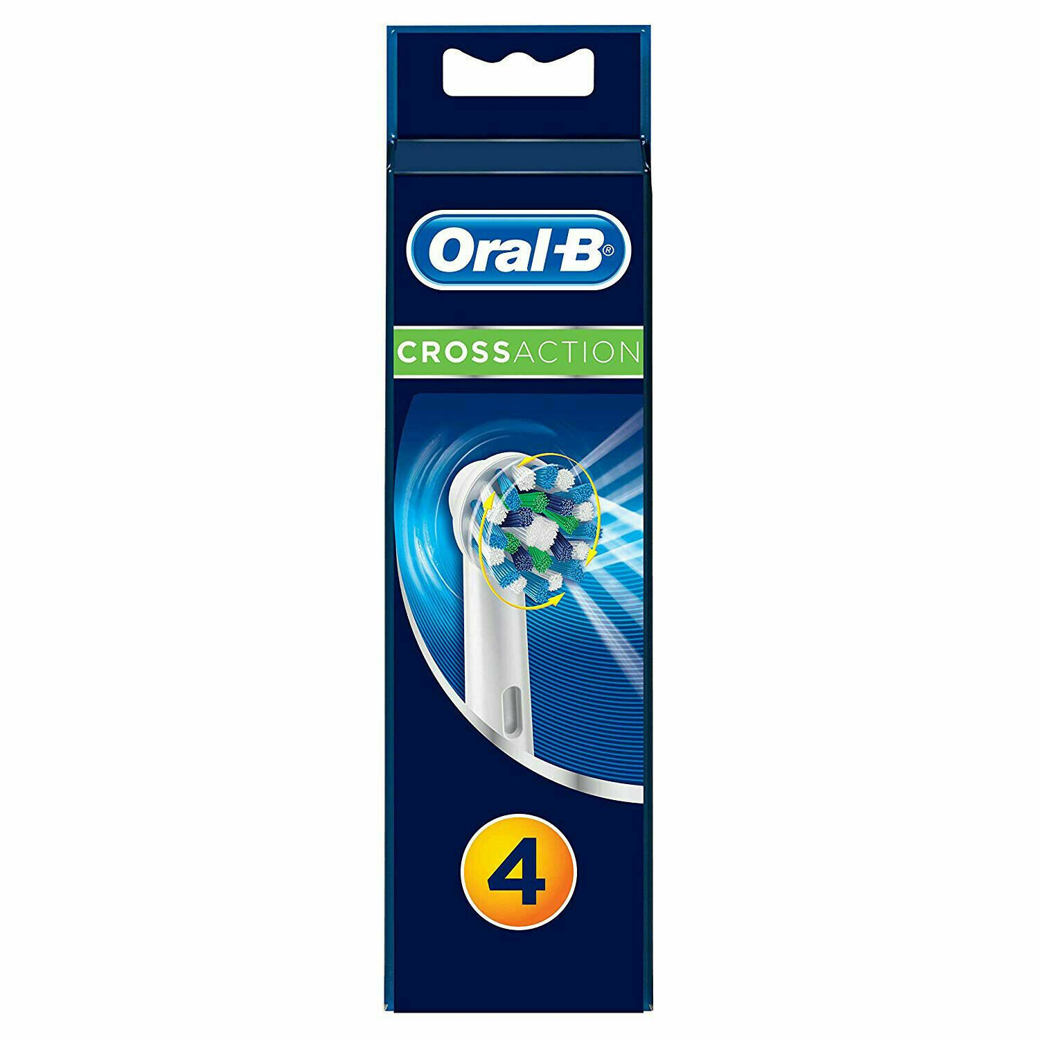 Oral-B Braun Cross Action Replacement Toothbrush Heads 4 Pack