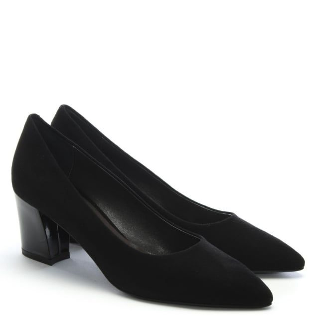 Calpierre Sonata Suede Gloss Heel Court Shoes