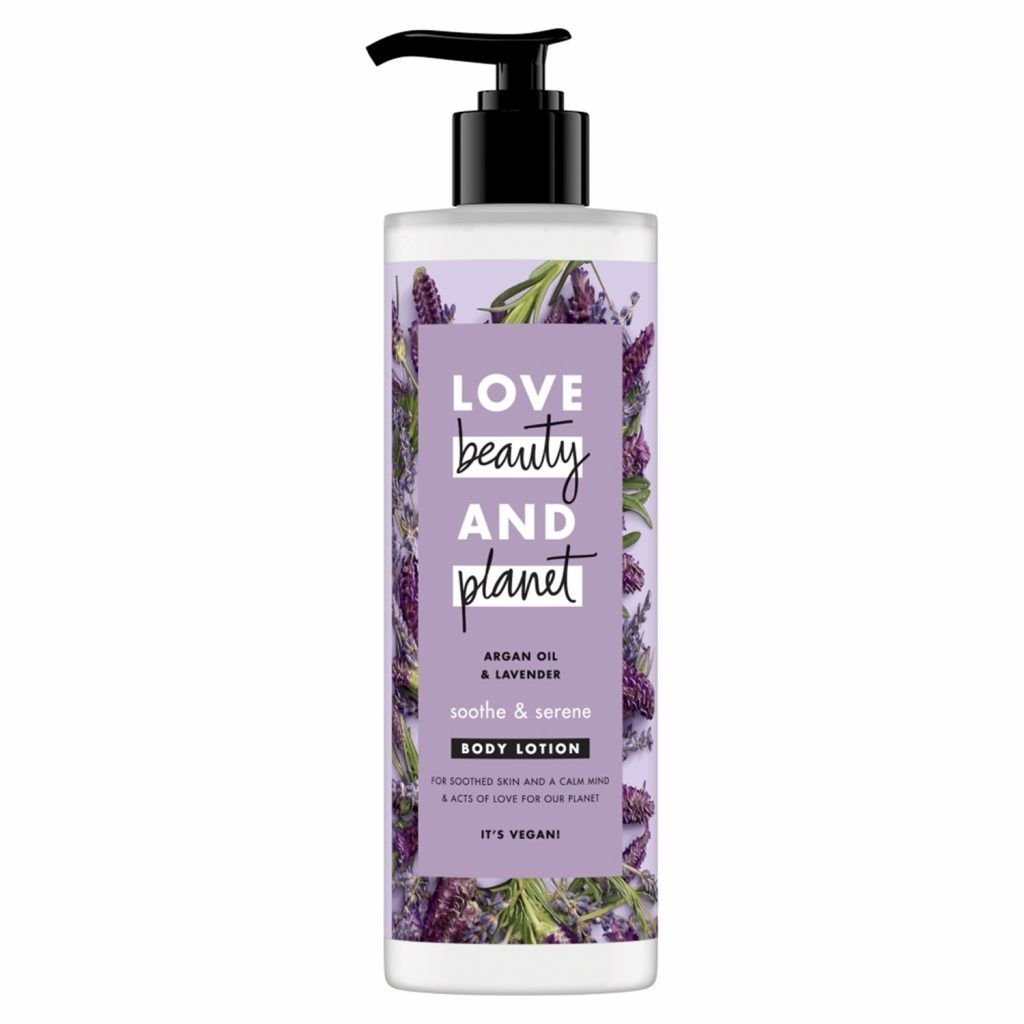 Love Beauty & Planet Soothe and Serene Argan Oil & Lavender Body Lotion 400ml (Pack of 3)