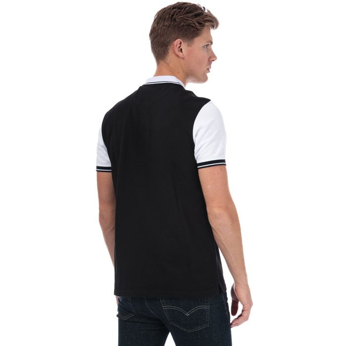 Men's Lyle And Scott Tipped Polo Shirt in Black-White