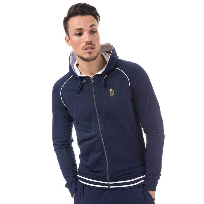 Men's Luke 1977 Stag Run Zip Hoody in Navy