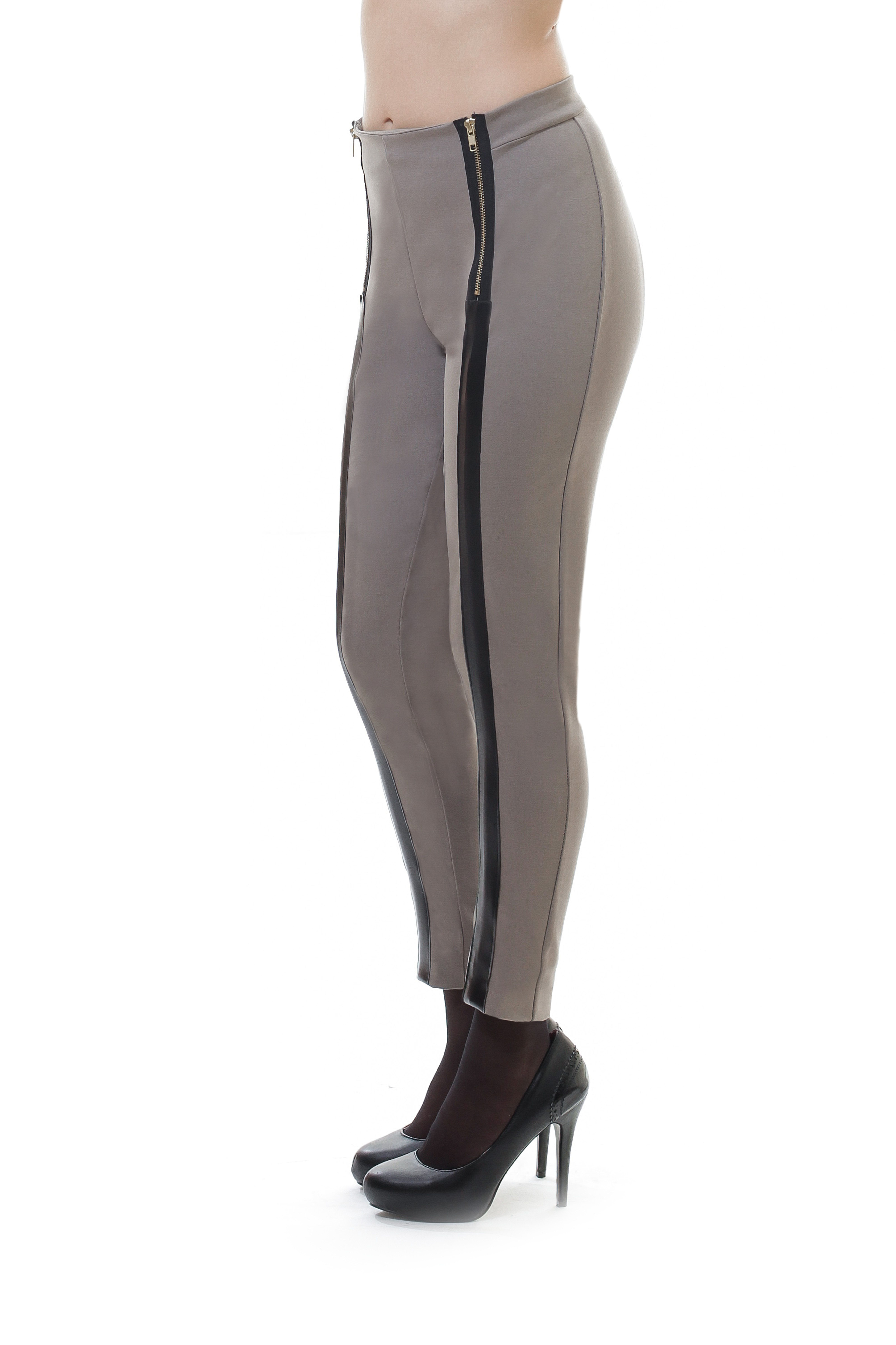 Zip Detail Panelled Pants