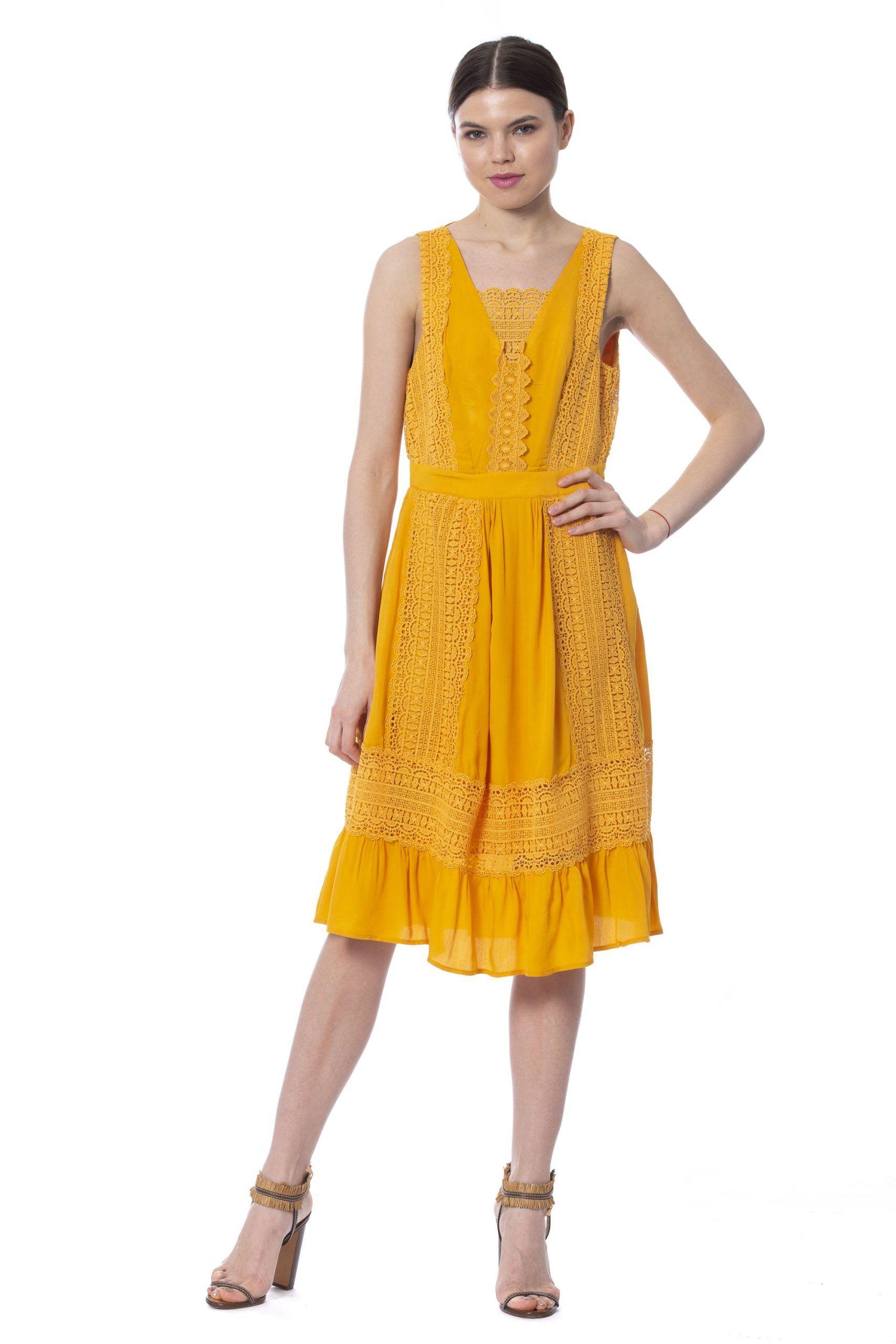 Silvian Heach Mustardlight Dress