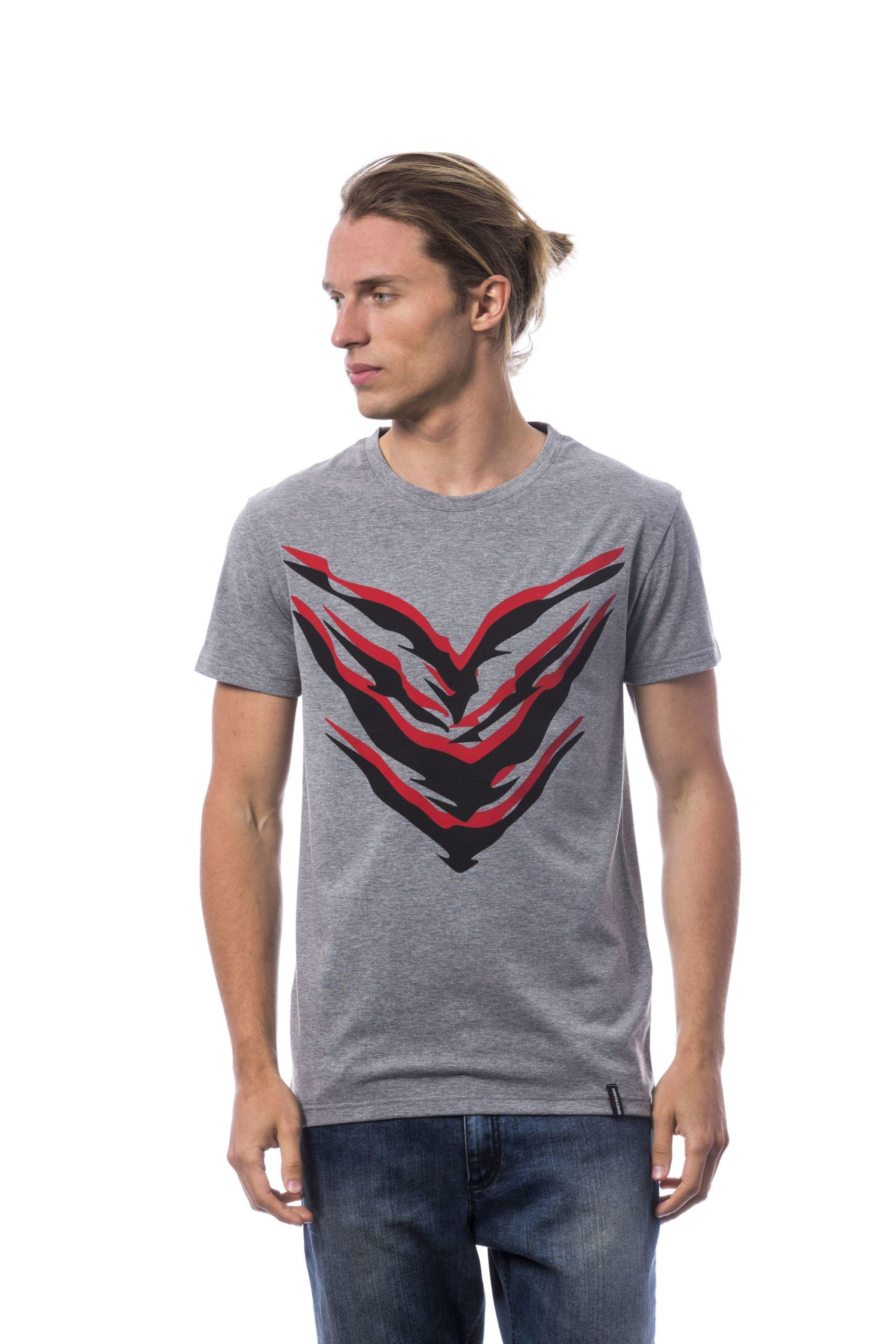 Roberto Cavalli Sport Grey Melange T-shirt