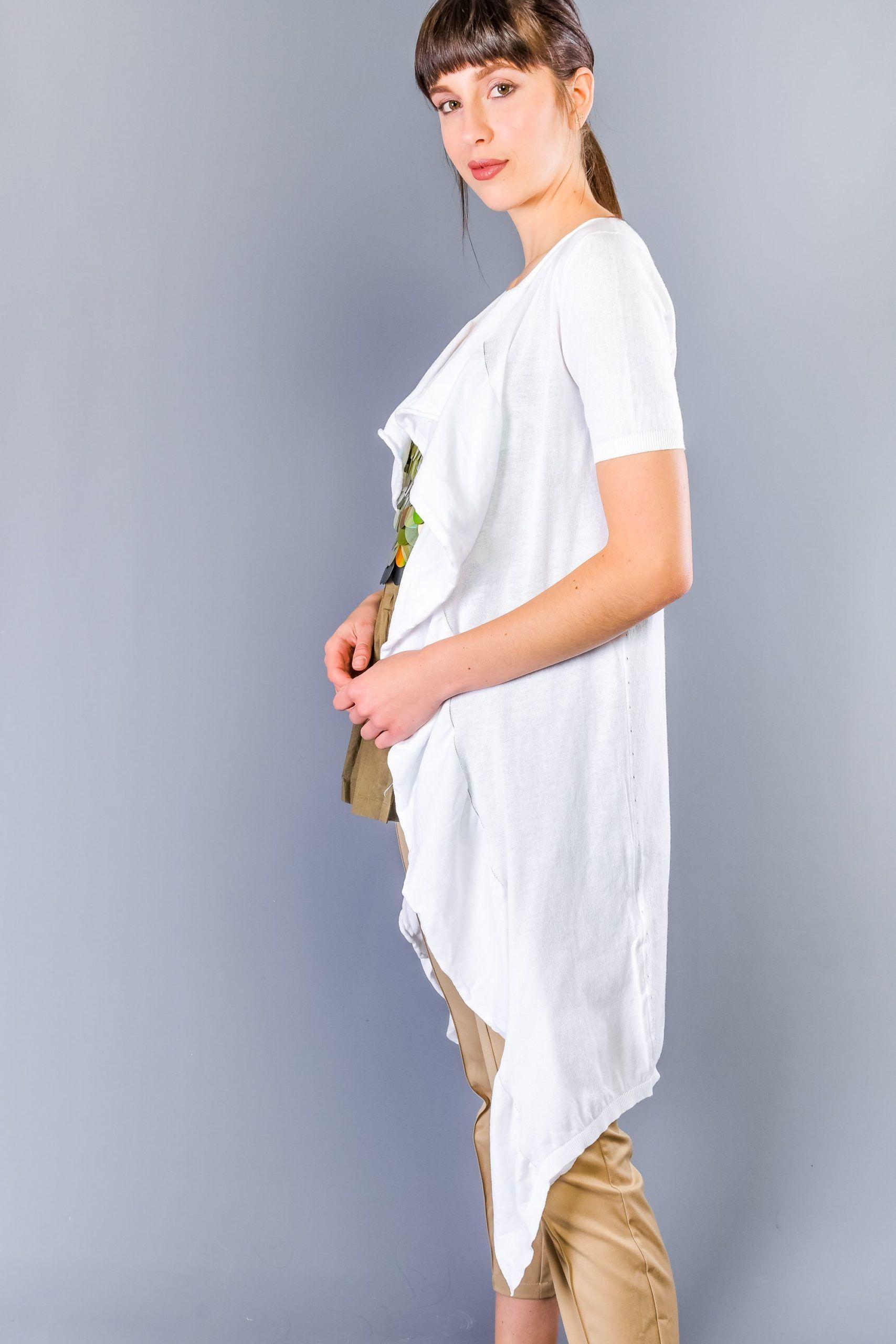 Twinset White Cotton Sweater