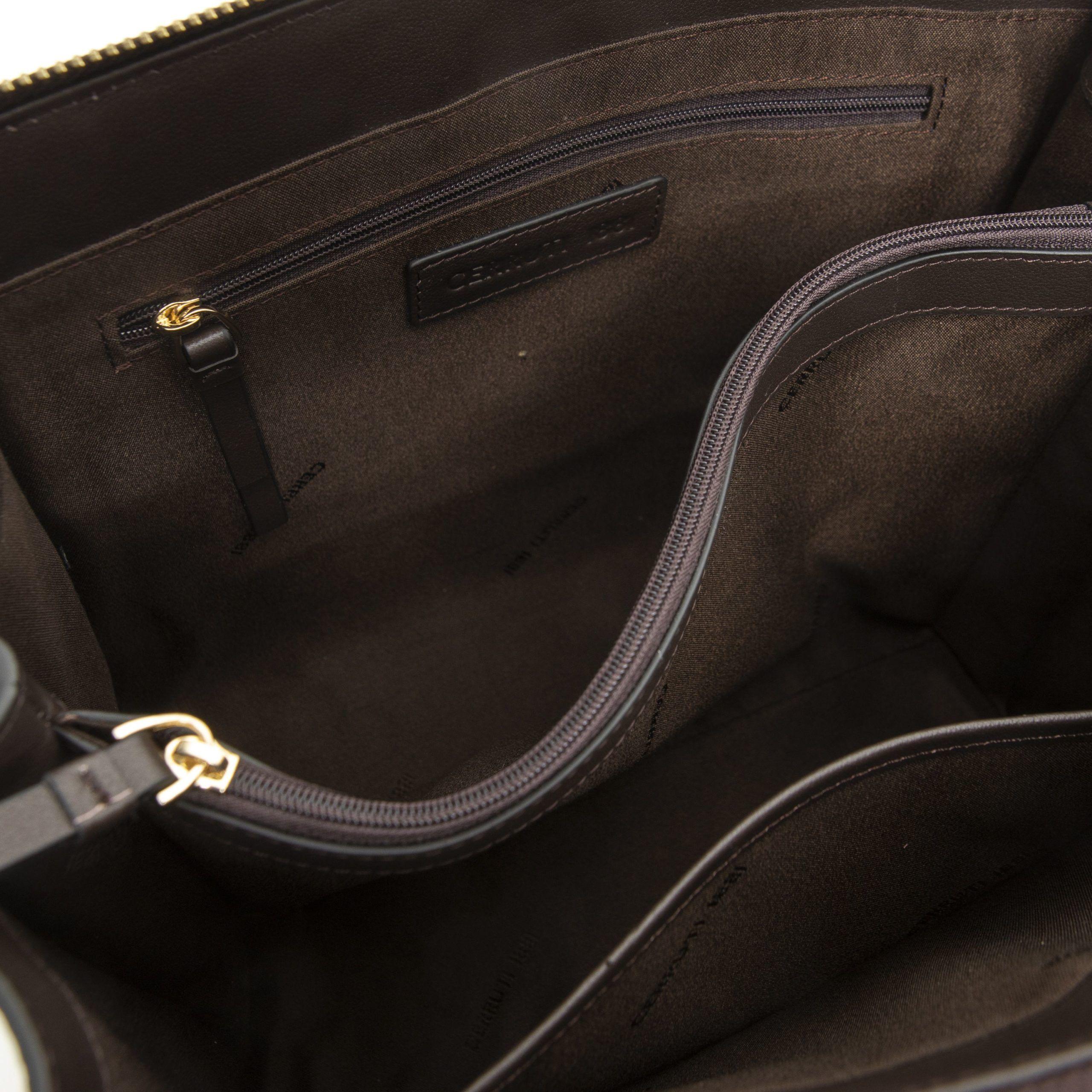 Cerruti 1881 Tan Handtasche
