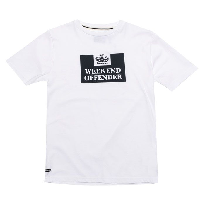 Boy's Weekend Offender Infant Prison T-Shirt in White