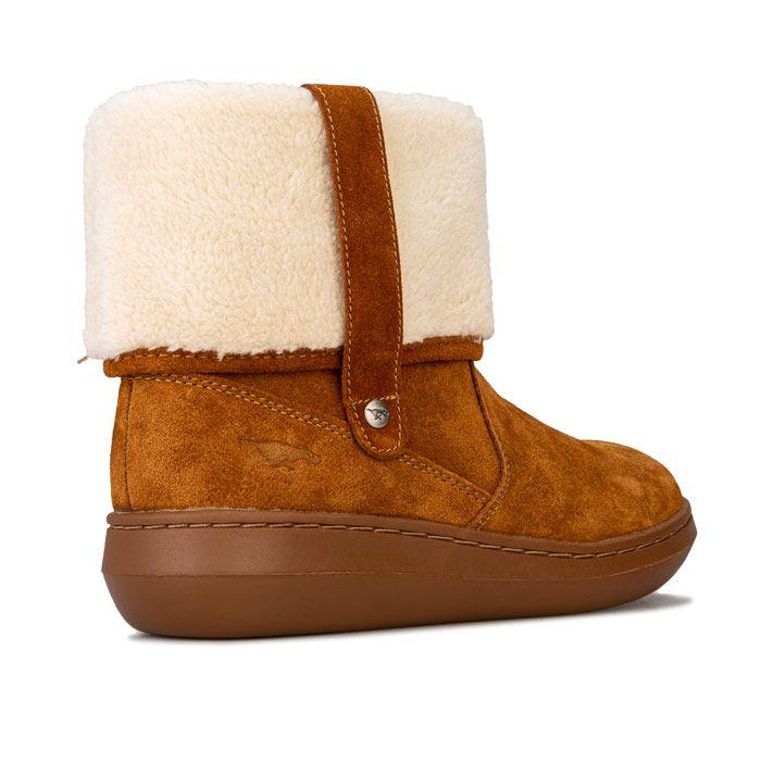 Women's Rocket Dog Sugar Mint Suede Boots in Chestnut
