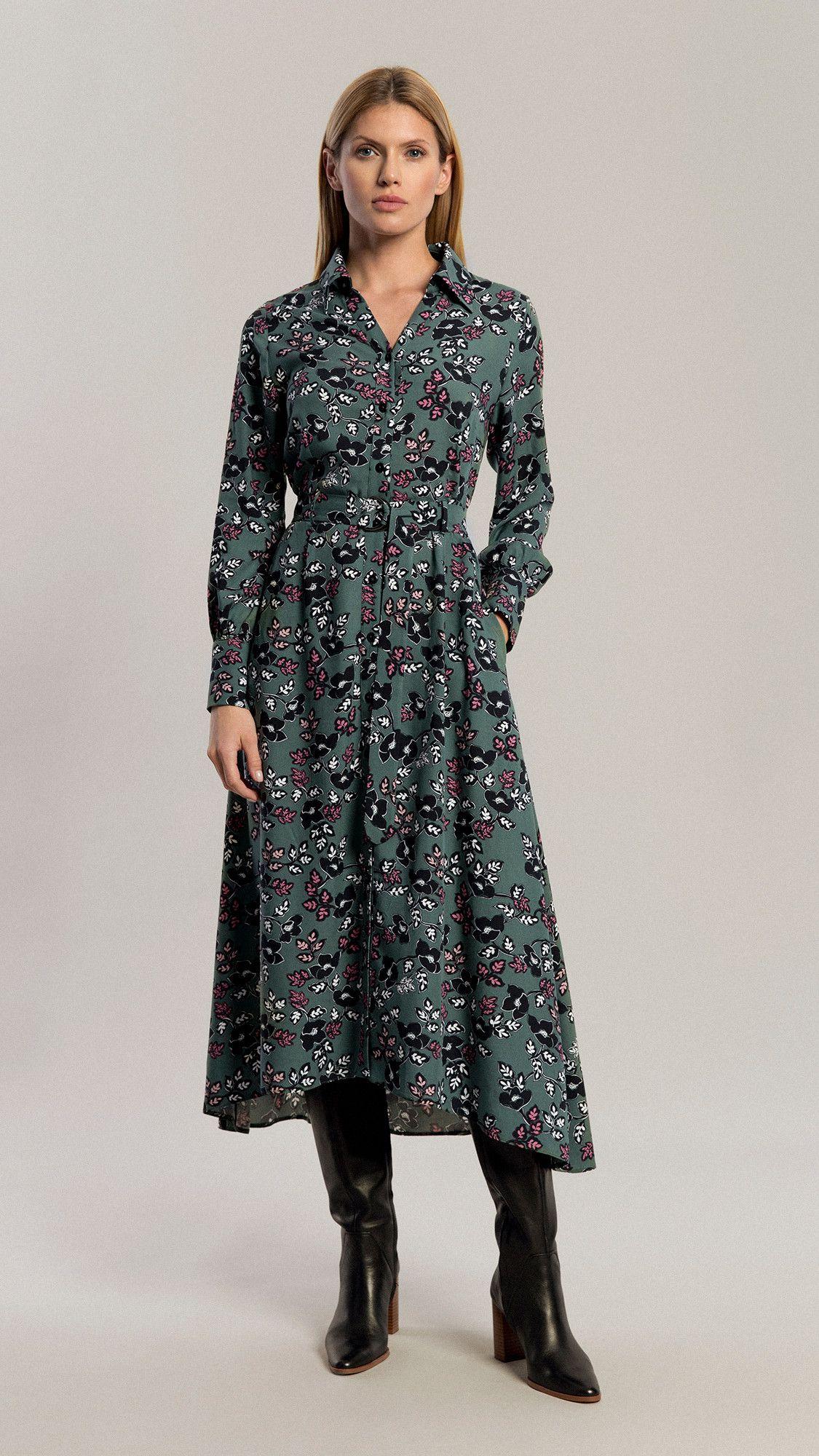 Dress Amber Floral Green