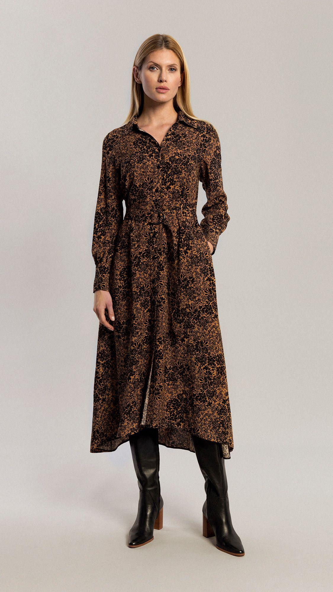 Dress Amber Floral Brown