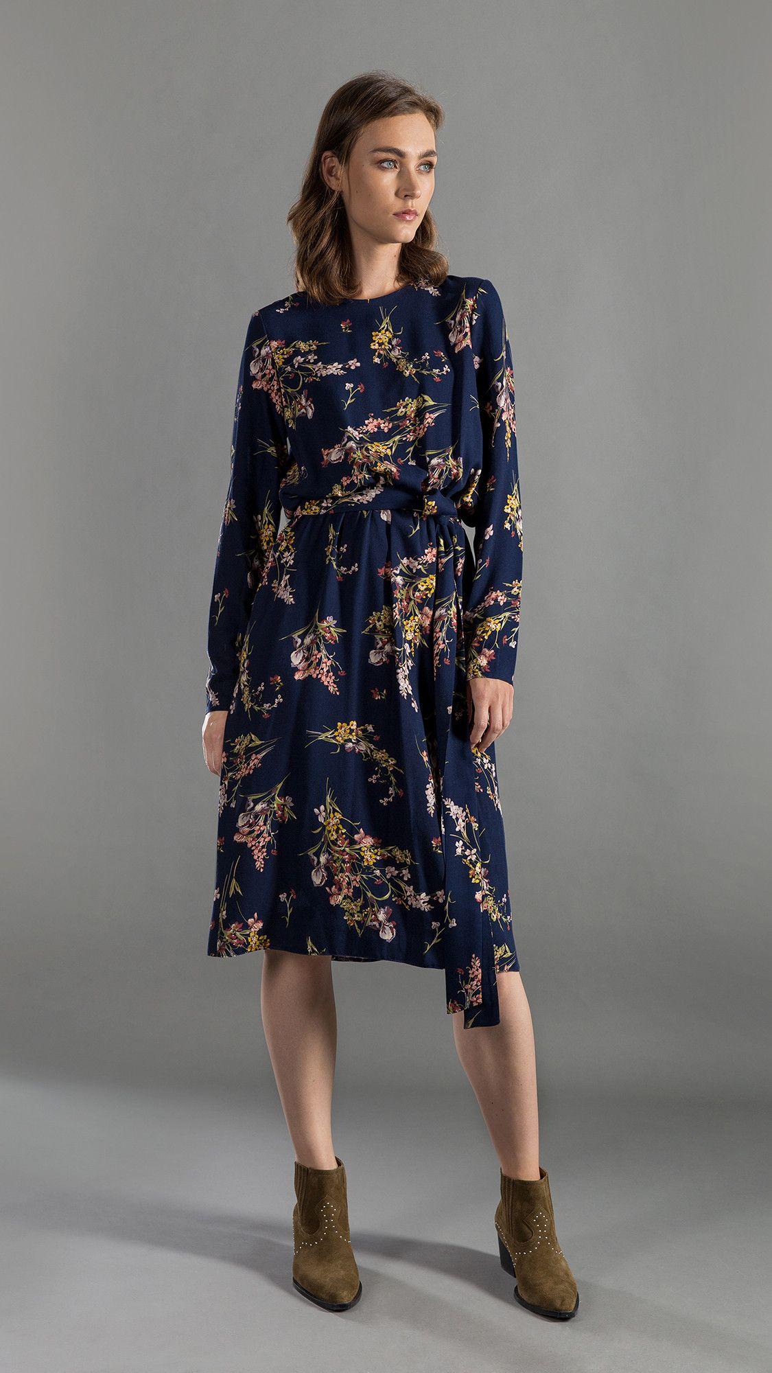 Dress Amelia Floral Navy