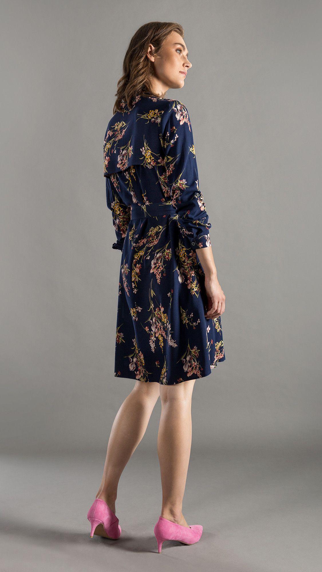 Dress Bonnie Floral Navy