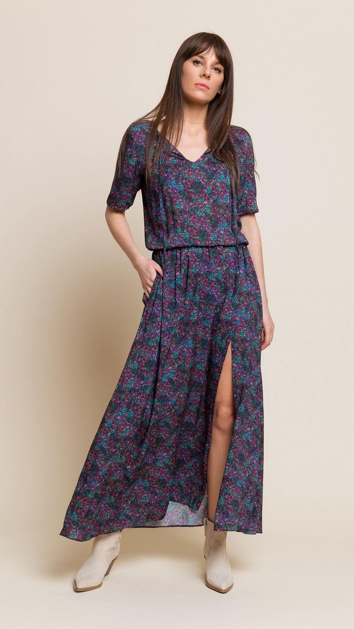 Dress Jasmine Purple Muticolor
