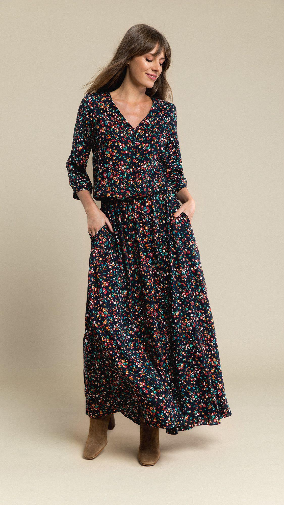 Dress Lana Navy Muticolor