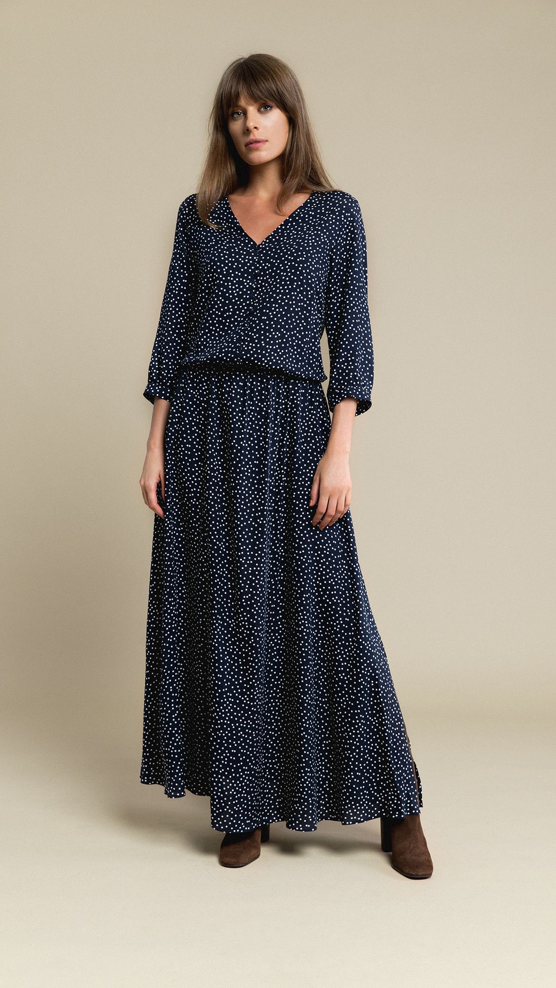 Dress Lana Dotted Navy