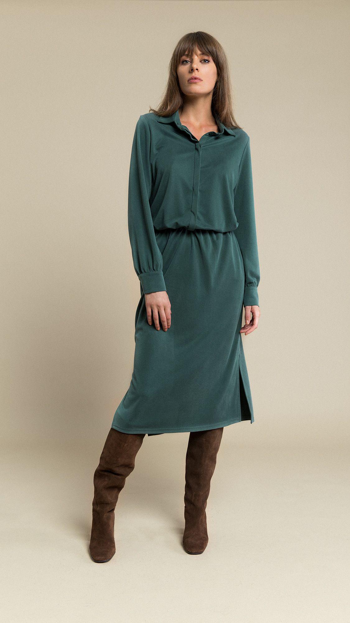 Dress Linda Bottle Green